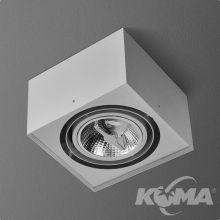 Squares lampa sufitowa 1x100W AR111 12V biała (mat)