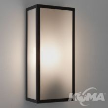 Messina frosted kinkiet czarny 2x60W E27