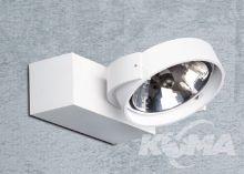 Max I kinkiet / reflektor 1x50W QR111 230V biały