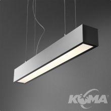 Set Aluline lampa wisząca 120cm 1x54W G5 230V czarna (mat)
