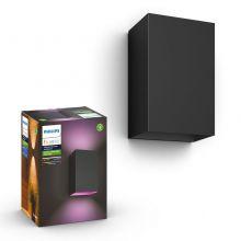 Philips hue resonate kinkiet zewnętrzny czarny 2x8W