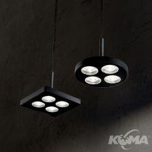 Garage sp4 square lampa wisząca czarna 12W led 3000k 1080lm 230V
