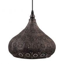 Melilla lampa wisząca 1x60W E27 230V czarna