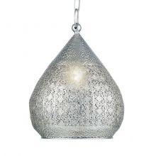 Melilla lampa wisząca 1x60W E27 230V srebrna