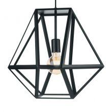 Embleton lampa wisząca 1x60W E27 230V czarna