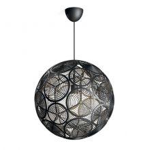 Ring lampa wisząca 1x60W E27 230V czarna