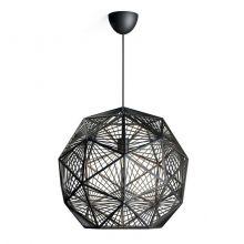 Mohair lampa wisząca 1x60W E27 230V czarna
