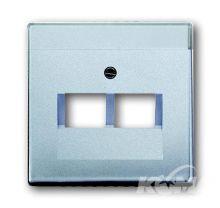 Abb pokrywka do gniazda transmisji danych aluminium  1803-02-83