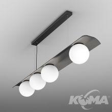 Modern_ball WP lampa wisząca 44W LED 3000K CR>90 czarny struktura