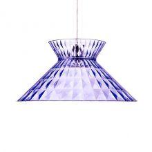 Sugegasa lampa wisząca 1x100W E27 230V transparentna lazurowa