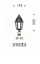 Korona do słupa zewnętrznego E27 100W brąz/przezroczyste szkło