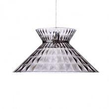 Sugegasa lampa wisząca 1x100W E27 230V transparentna przydymiona
