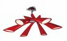 Pop lampa sufitowa 6x13W E27 czerwona