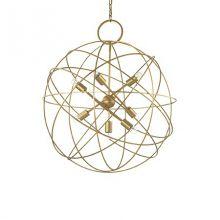 Konse 7 lampa wisząca 7x60W E27 230V złota