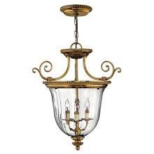 Cambridge lampa wisząca 3x60W E14 230V mosiądz