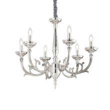 Lancelot 6 lampa wisząca żyrandol 6x40W E14 230V srebrna
