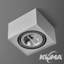 Squares lampa sufitowa 1x100WG53 |G53 | AR111 12V ecru (mat)