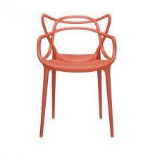 Masters krzesło 57x84x47cm rdzawo-pomarańczowe