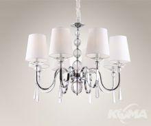 Charlotte lampa wisząca 8x40W E14 230V chrom / biały abażur