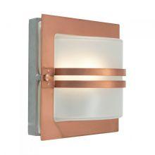 Bern kinkiet zewnętrzny 3.9W LED 230V miedziany/mleczny klosz