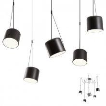 Dodo lampa wisząca czarna 5x42W E27