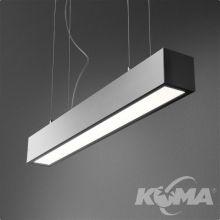 Set Aluline lampa wisząca 143cm. 33W LED 230V czarna (mat)