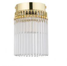 Filago oprawa stropowa złota 1x60W E14 szkło kryształowe mat