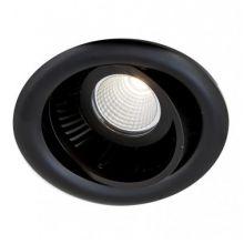 Luk lampa wpuszczana 6.2W LED 230V czarna DIMM PU