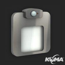 Moza oprawa ścienna wpuszczana z czujnikiem ruchu LED 1,4W 230V