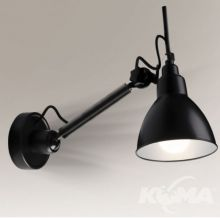 Kinkiet daisen czarny 1x25W E27 230V