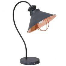 Loft Taupe lampa stołowa 1x60W E27 230V ciemnoszara