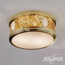 Alt_Wiena plafoniera sufitowa fi25cm 2x40W E14 mosiądz / szkło opalowe połysk