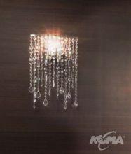 Marylin kinkiet 1x60W E27 nikiel/kryształ
