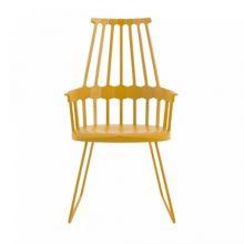 Comback krzeslo 58x100x50cm sanki zolty