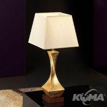 Deco lampka stołowa złota 1x60W E27 230V