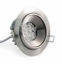 Judit 9 leds 630 ma 18W power multichip 15st IP40 nikiel, biala ciepla