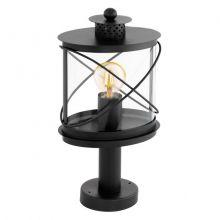 Hilburn lampa zewnętrzna stojąca słupek 1x60W E27 230V czarna