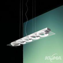 0-Sound lampa wisząca 5x22W 2GX13 230V transparentna