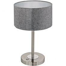 Romao lampka stołowa led 12W szara