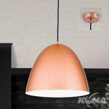 Loft lampa wisząca 1x60W E27 230V miedź