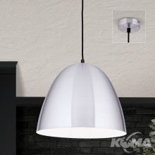 Loft lampa wisząca 1x60W E27 230V aluminium mat