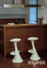 Dodo hoker/krzeslo barowe h72 nude white