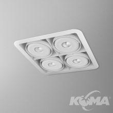 IForm oprawa wpuszczana 25W LED 3000K 230V biały mat