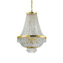 Caesar lampa wisząca żyrandol 12x40W G9 230V złota