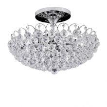 Kristal_klassich lampa sufitowa chrom z kryształowymi kulami asfour crystal  6x60W E14