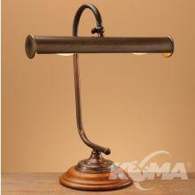 Model 120/35 lampka biurkowa 2x15W E14 ziemisty brąz