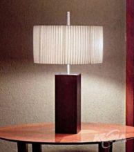 Mani mini lampa stolowa 1x60W drewno wenge/wstazka kremowa