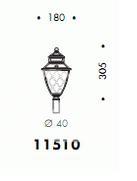 Korona do słupa zewnętrznego E27 100W biała/przezroczyste szkło