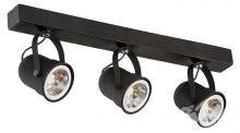 Retro reflektory 3x50W B15d 45cm ciemny brąz