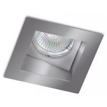 Basit lampa wpuszczana 1x50W GU10 230V szara